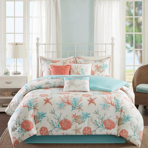 Seashell Bay 7 Piece Comforter Set - Cal King