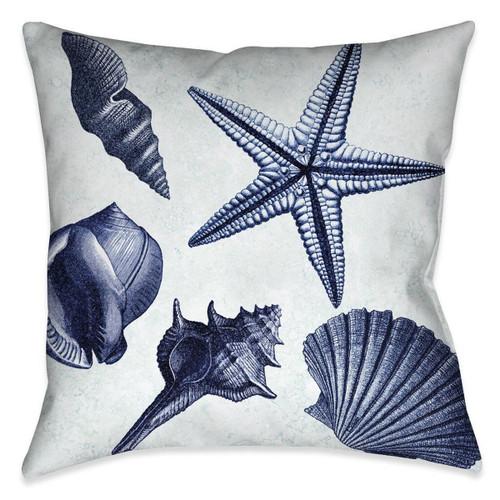 Seashell Shore 20 x 20 Outdoor Pillow