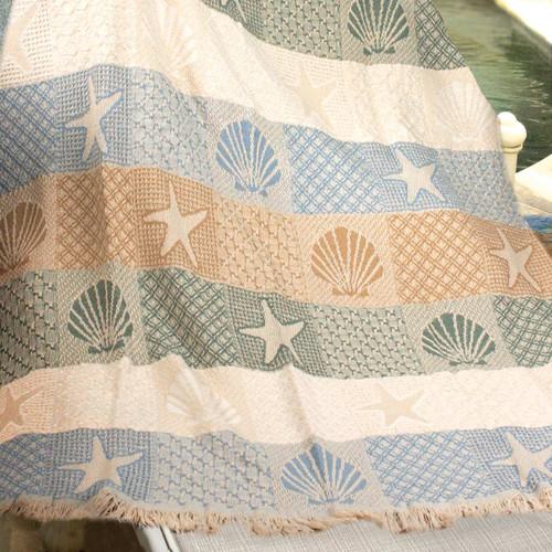 Shells and Lattice Throw Blanket