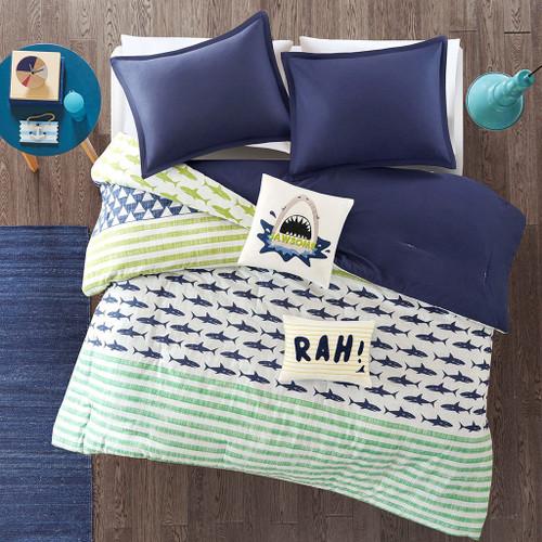 Shark Swim 4 Piece Comforter Set - Twin/Twin XL