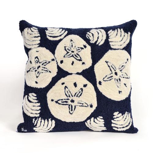 Shell Toss Navy Indoor/Outdoor Pillow