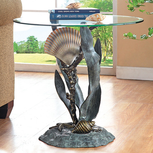 Shells & Seagrass End Table - BACKORDERED UNTIL 11/23/2021