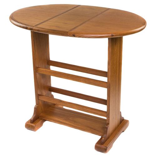 Small Teak Drop-Leaf Table
