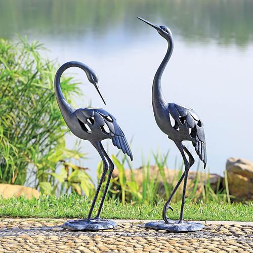 Standing Cranes LED Sculptures