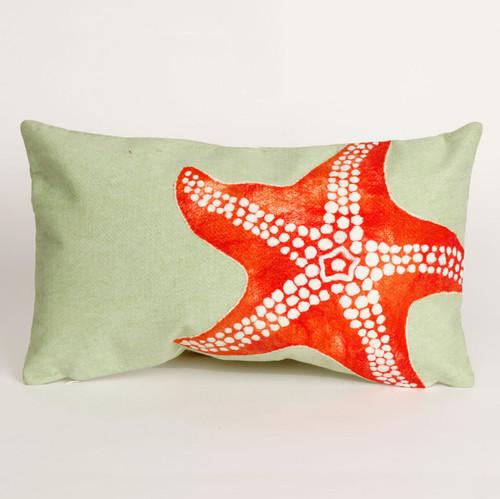 Starfish Seafoam Pillow - 12 x 20