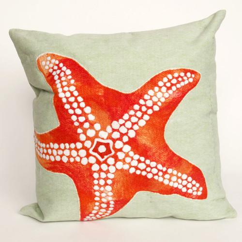 Starfish Seafoam Pillow - 20 x 20