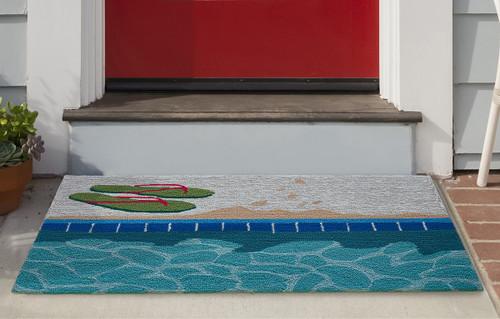 Poolside Flip Flops Indoor/Outdoor Rug Collection