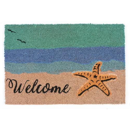 Starfish Welcome Coir Doormat - BACKORDERED