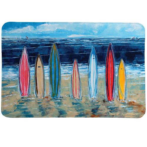 Striped Boards Memory Foam Mat