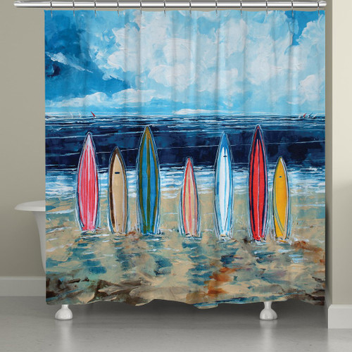 Striped Boards Shower Curtain