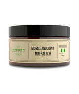 Mississippi Miracle Clay MUSCLE AND JOINT MINERAL RUB for sore muscle, arthritic joints, knee pain, shoulder pain, hip pain, and foot pain.