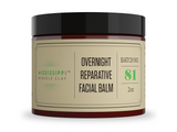 Mississippi Miracle Clay OVERNIGHT REPARATIVE FACIAL BALM best hydration for very dry skin, fine lines, and wrinkles.