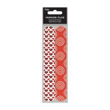 Cala Fashion Nail File - Red Heart (2pk)