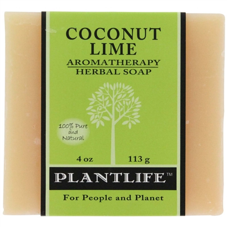 Plantlife Aromatherapy Herbal Soap - Coconut Lime