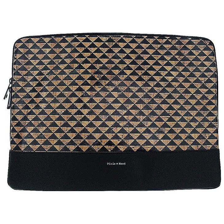 Pixie Mood Isla Laptop Sleeve -  Triangles Cork