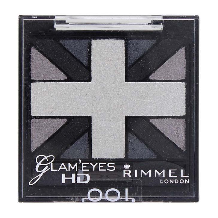 Rimmel Glam'Eyes HD Quad Eye Shadow - Black Cab 001