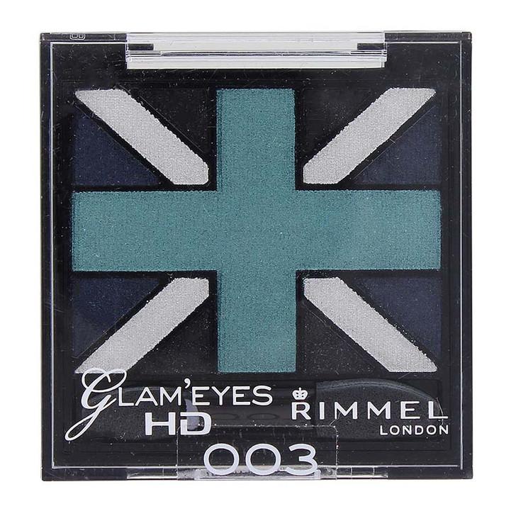 Rimmel Glam'Eyes HD Quad Eye Shadow - Royal Blue 003