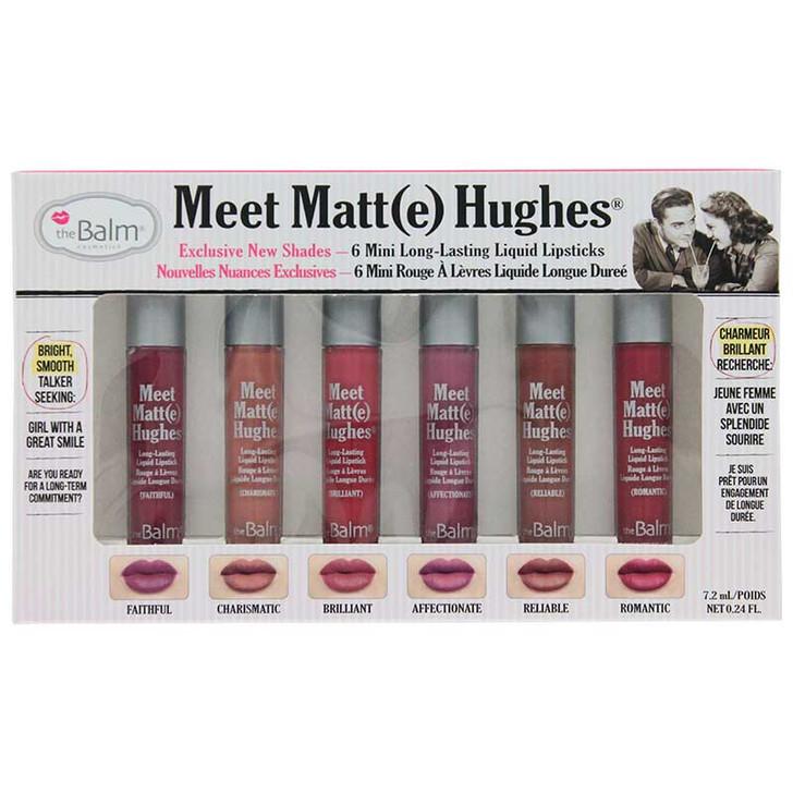theBalm Meet Matt(e) Hughes 6 Mini Liquid Lipsticks Kit 2