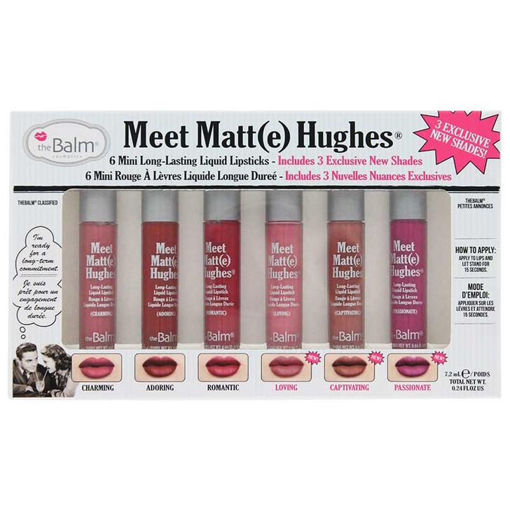 theBalm Meet Matt(e) Hughes 6 Mini Liquid Lipsticks Kit 3
