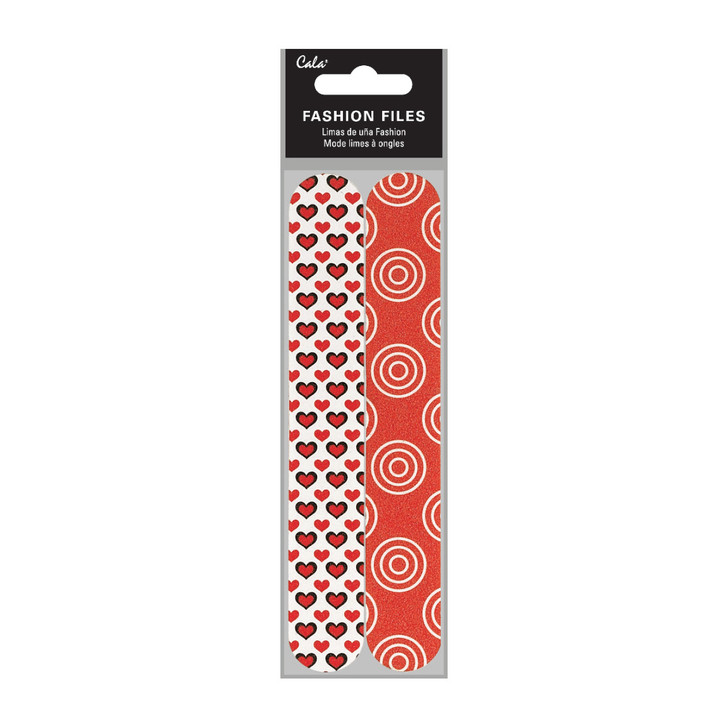 Cala Fashion Nail File - Red Heart (2pk)