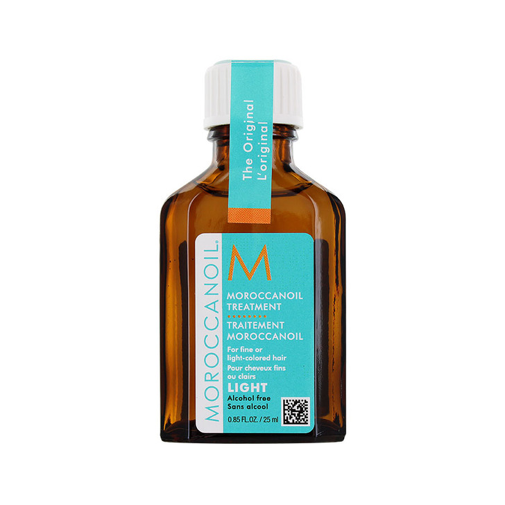 Moroccanoil Treatment Light - Travel Size Uses: Conditioner, styling aide, finishing treatment. Contains Argan Oil and vitamins to condition and protect. Detangles, boosts shine and nourishes hair for more manageable locks. Award winning oil-infused hair treatment. For fine or light-colored hair.