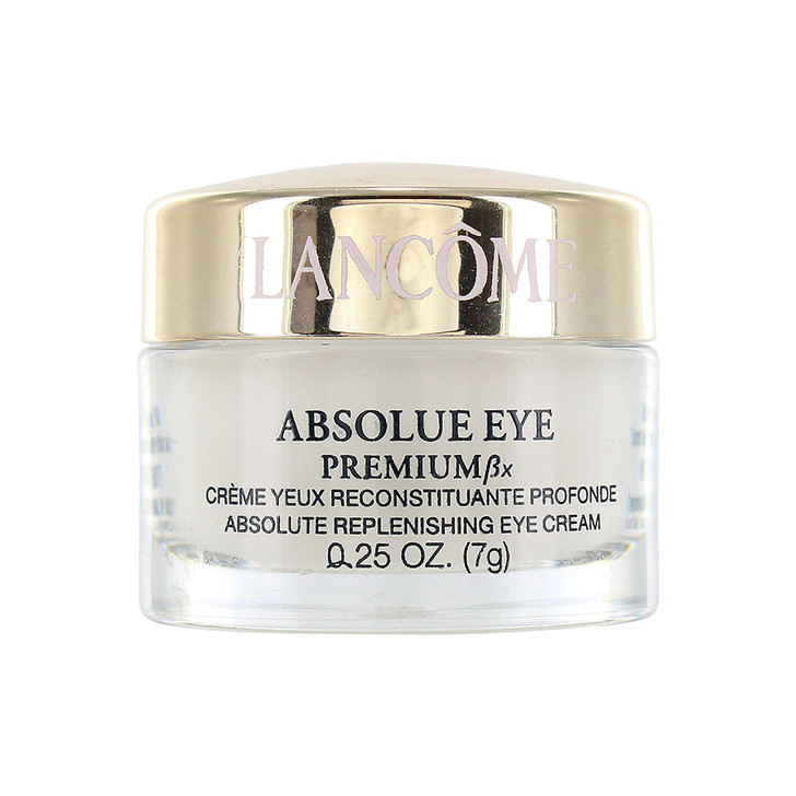 Lancome Absolue Eye Premium Bx .25 oz - Replenishing and Rejuvenating Eye Cream helps restore moisture in the skin's surface and replenishes the eye contour to improve firmness and luminosity. intensely moisturize the eye area and reduce fine lines and wrinkles.