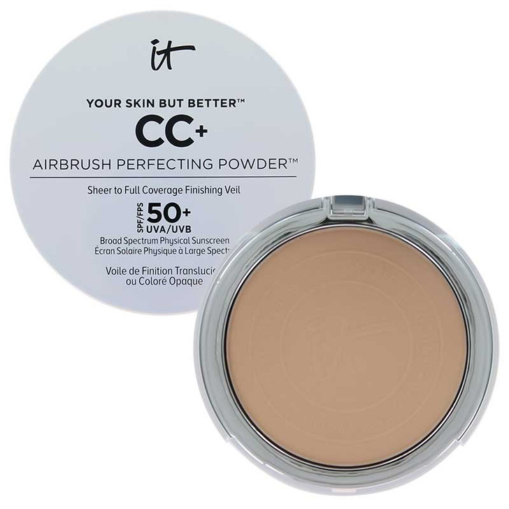 IT Cosmetics Your Skin But Better CC+ Airbrush Perfecting Powder available in fair, light, tan and rich