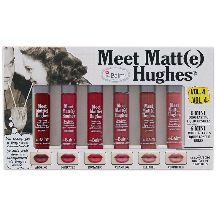 theBalm Meet Matte Hughes 6 Mini Liquid Lipsticks - Vol. 4