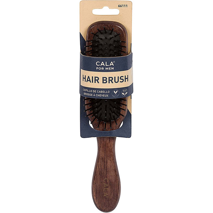 Cala for Men Dark Wood Small Paddle Brush