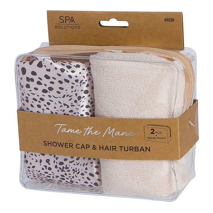 Cala Shower Cap and Turban Set