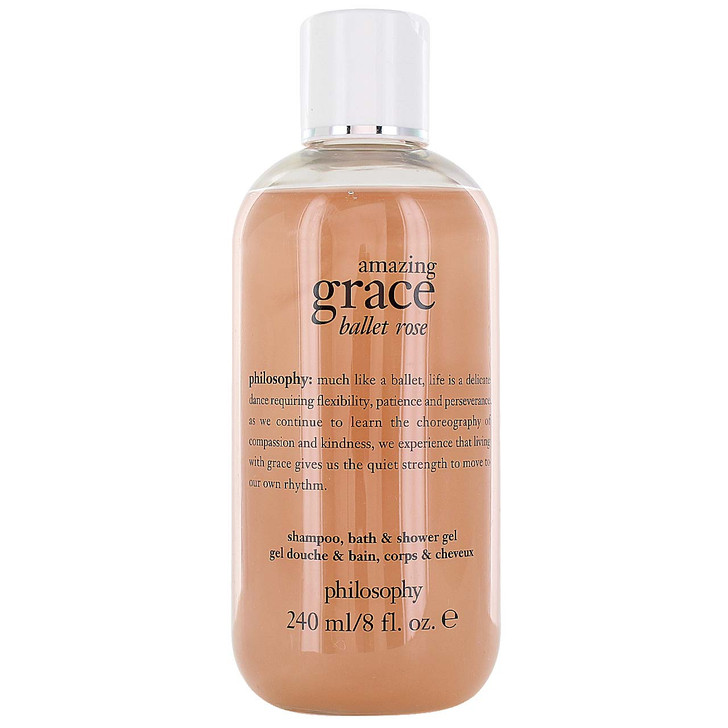 Philosophy Grace 3-in-1 Shampoo, Shower Gel & Bubble Bath available in Amazing Grace Ballet Rose, Baby Grace, and Pure Grace Nude Rose