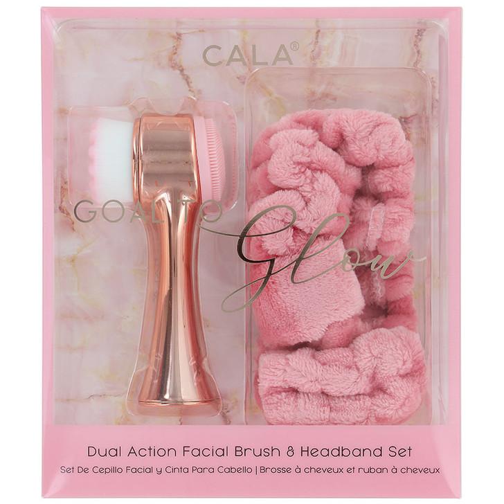 Cala Goal To Glow Facial Brush & Headband Set