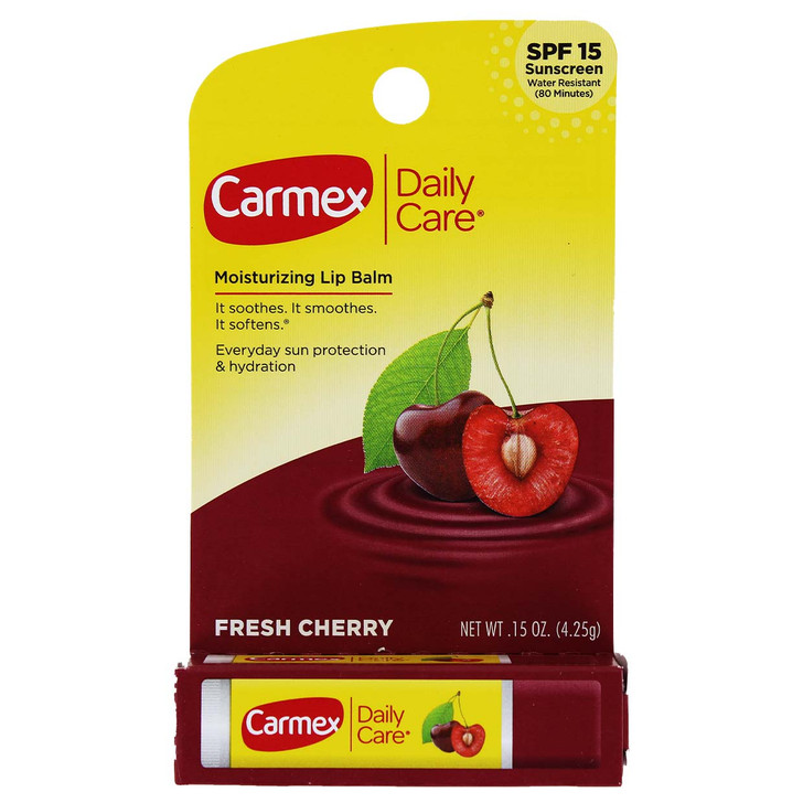 Carmex Daily Care SPF15 Lip Balm Stick - Fresh Cherry