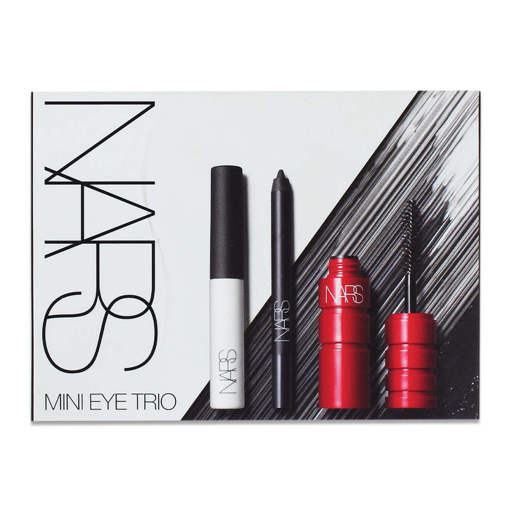 A trio of travel-size best sellers featuring mini Climax Mascara for explicit volume, mini High-Pigment Longwear Eyeliner for exacting precision, and mini Smudge Proof Eyeshadow Base.