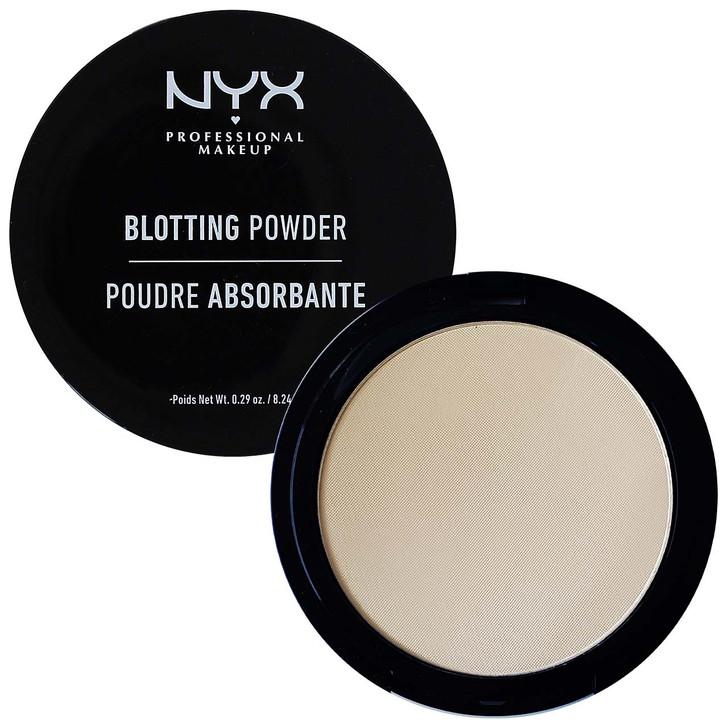 Nyx Blotting Powder. This silky pressed powder offers lightweight, sheer coverage that mattifies shine on contact with just a hint of color.