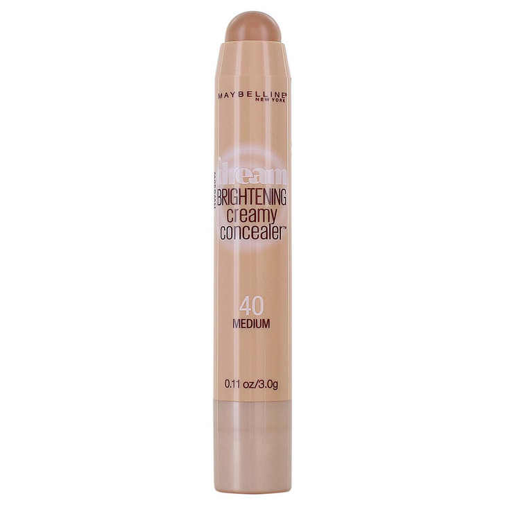 Maybelline's Dream Brightening Creamy Concealer delivers medium-to-full coverage with a luminous finish.