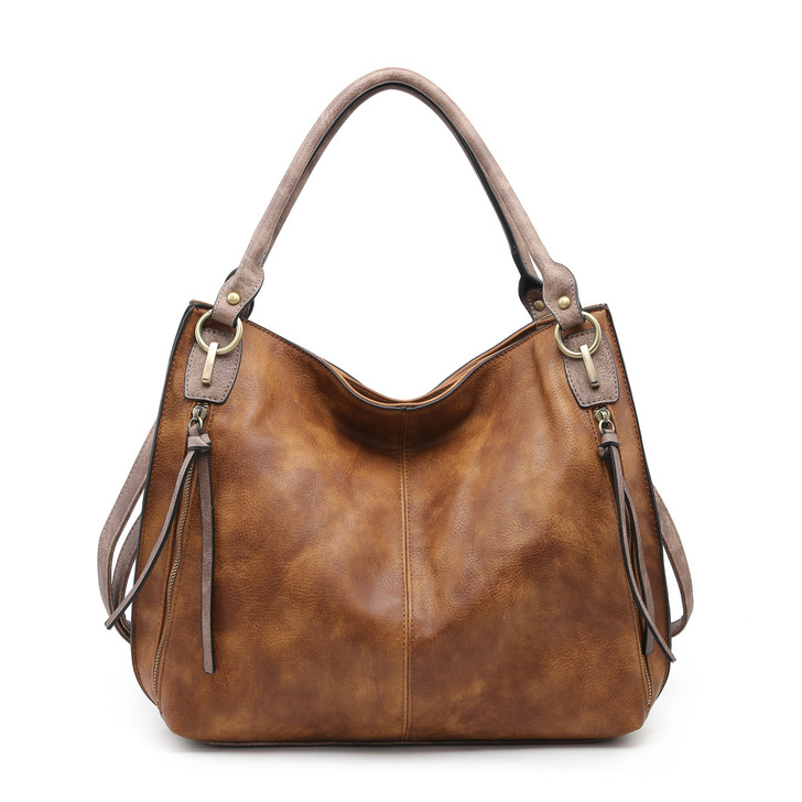 Jen & Co Connar Distressed Tote with Side Pockets