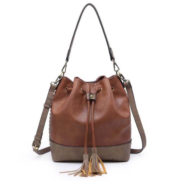Jen & Co Marah Bucket Bag in brown