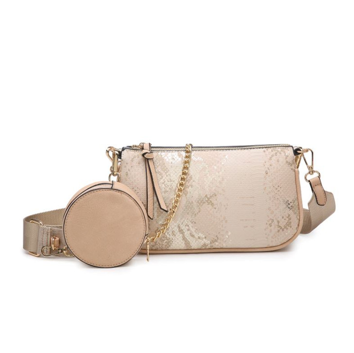Jen & Co Marina Crossbody with Removable Chain & Pouch