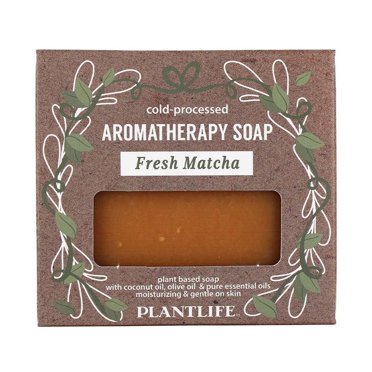Plantlife Cold-Pressed Aromatherapy Soap - Fresh Matcha