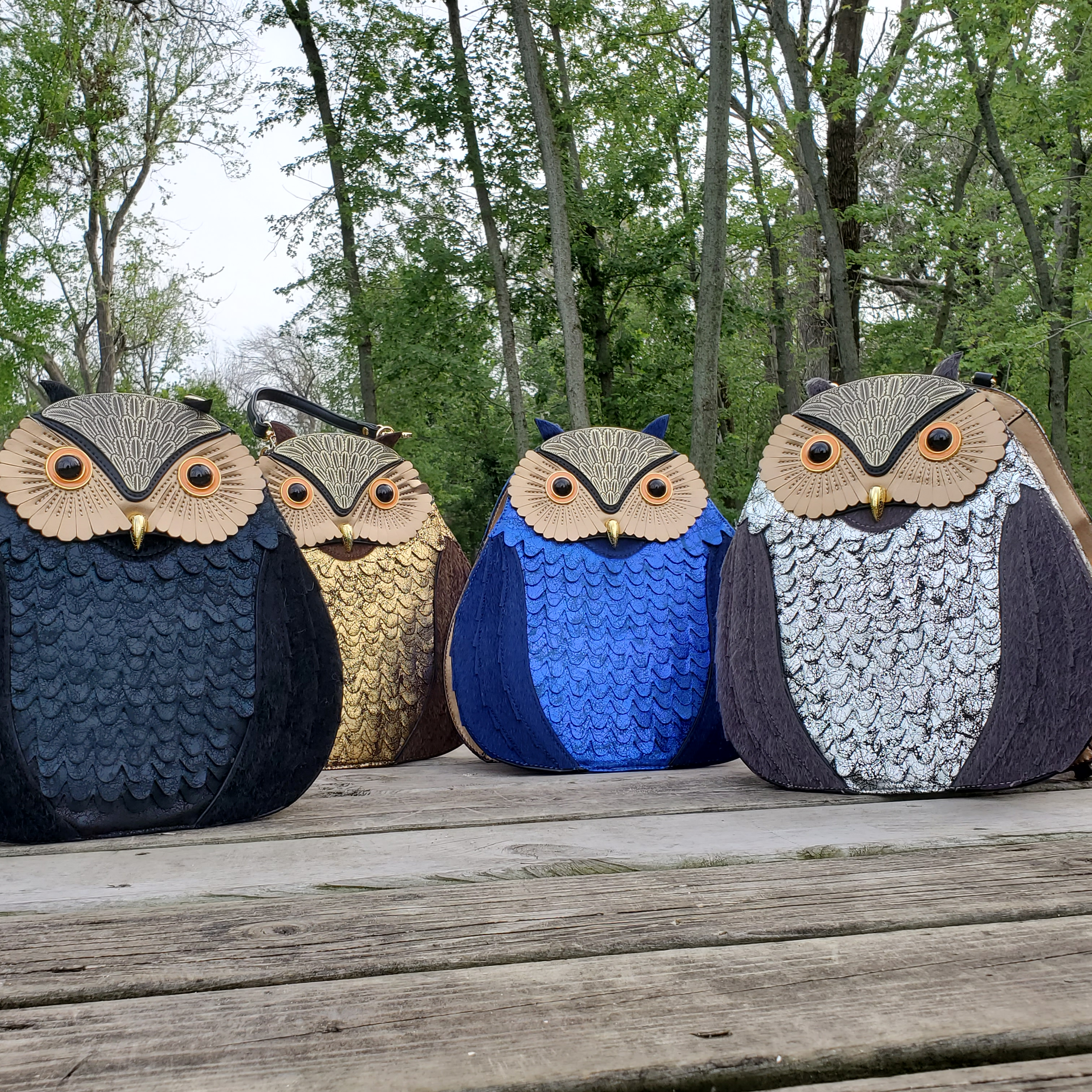 Jen and Co Owl Backpack