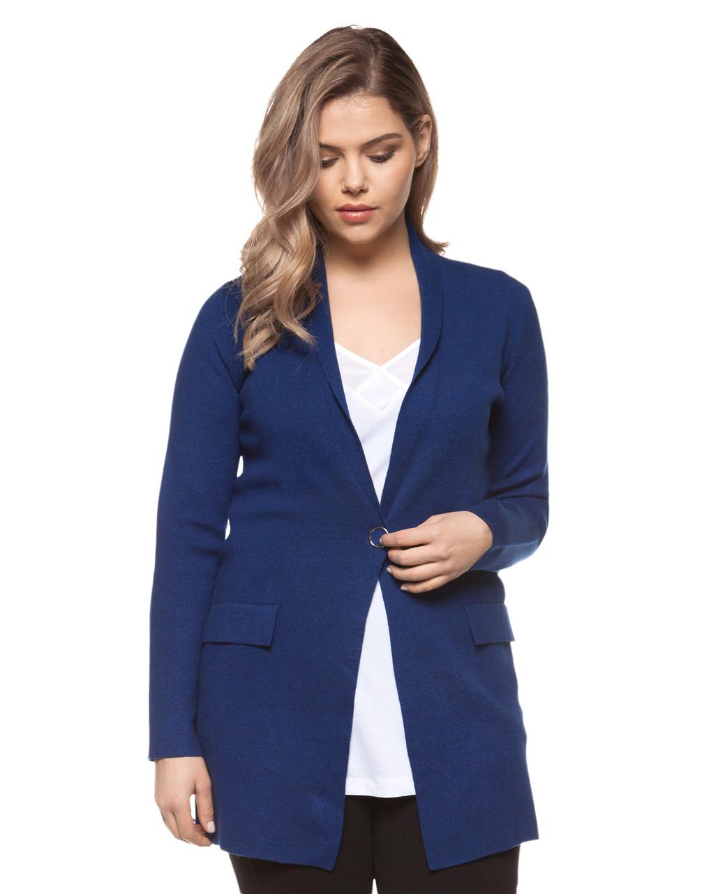 3b3160188a073 Women s blue stone plus size blazer