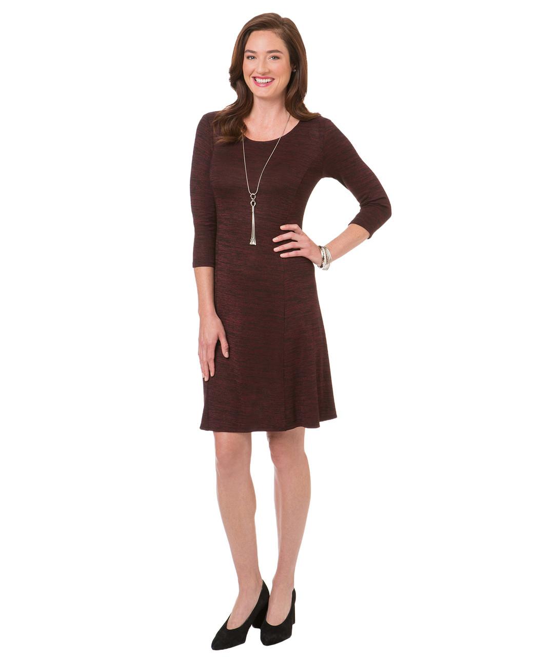 ebd6ccbc4d Women s red garnet knit sweater dress
