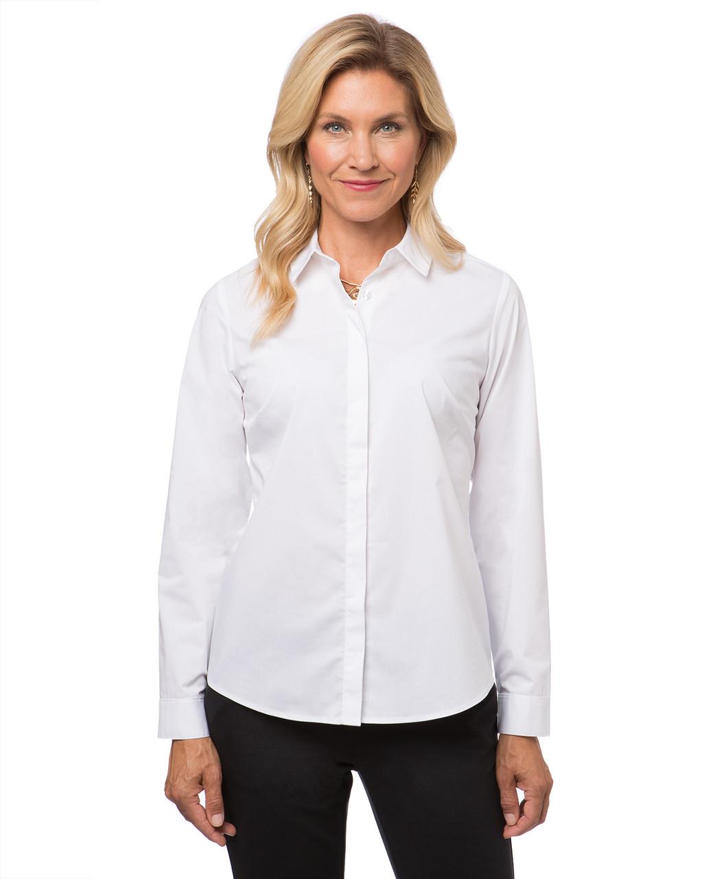 2b142e7fb7d Women s classic white dress shirt