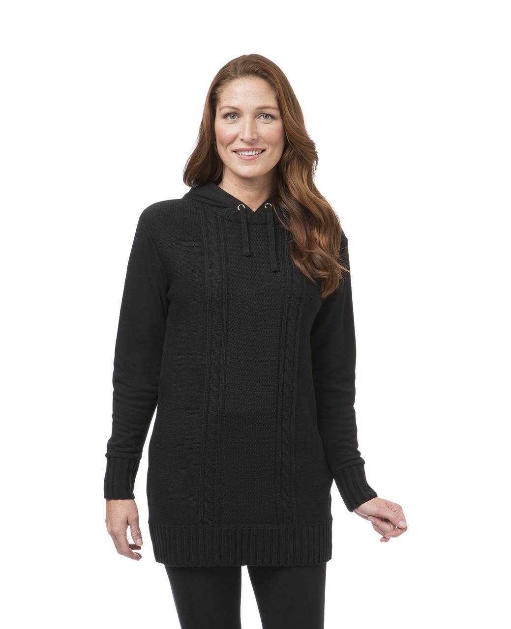 d5f1e189ca4 Women's Black Fleece Tunic Sweater | Northern Reflections