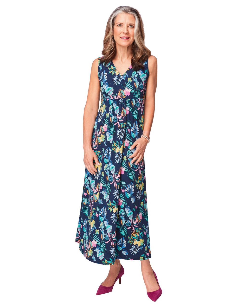 Empire waist maxi dress blue
