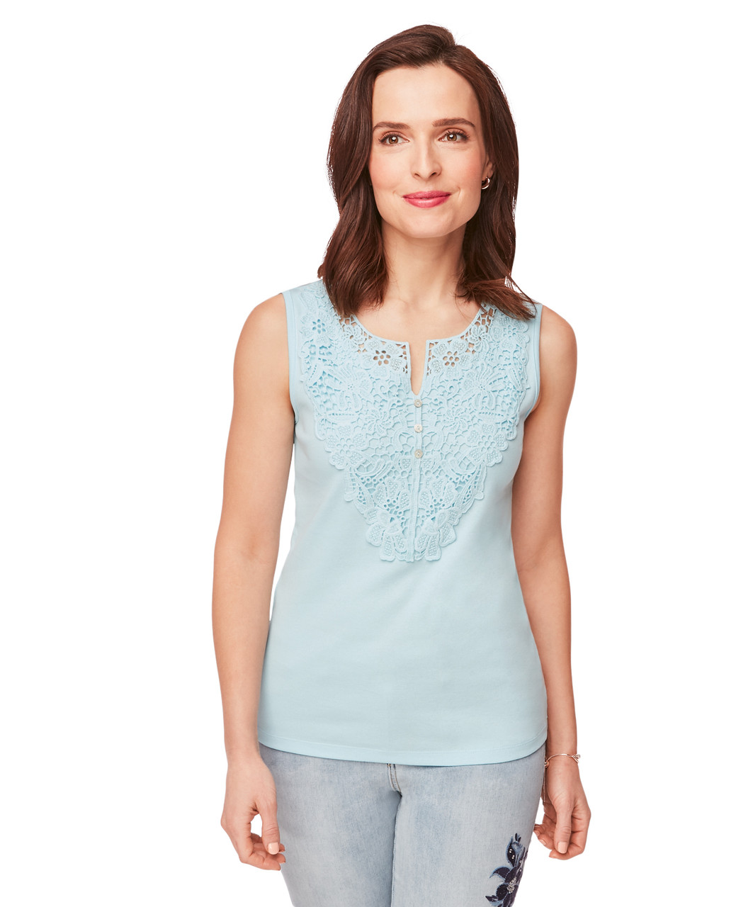 538d82dd236069 Aqua Foam Sleeveless Lace Top for Women | Northern Reflections