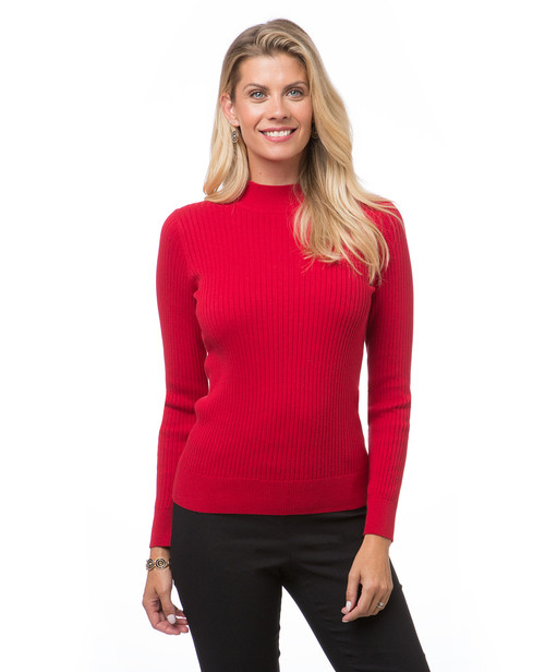 ea37cd05890 Women s everyday ribbed mock neck sweater