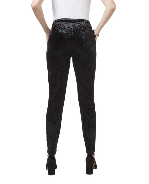 ... Women s black velour pants ac5802784