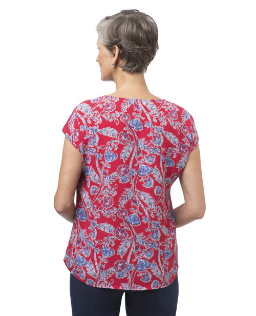 10d29c2a4bf29b ... Women s petite red floral popover ...